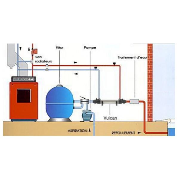 Warmtewisselaar elecro vulcan titanium 40 kw quality for Warmtewisselaar zwembad